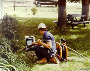 vintage photo of Digital TV Pipeline Inspection