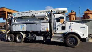 Mobile Dredging and Video Pipe sewer cleaning truck